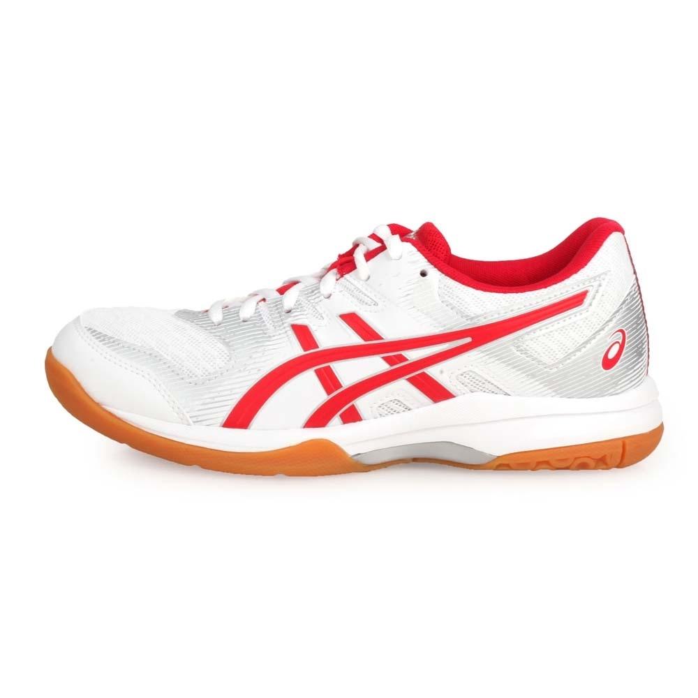 ASICS 男女 排羽球鞋 GEL-ROCKET 9 白紅銀
