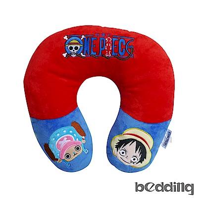 BEDDING 海賊王正版授權 高級短絨布護頸枕-紅色