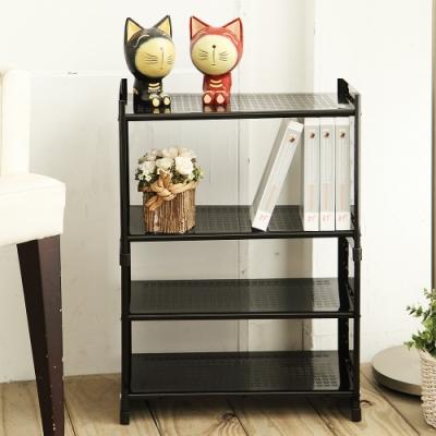 H&R安室家 台製鐵板烤漆可延伸式組合書櫃 二層OA125(4色選)