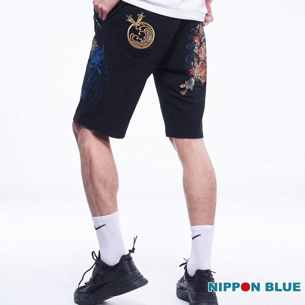 日本藍 BLUE WAY – 日本藍八寶金魚針織短褲