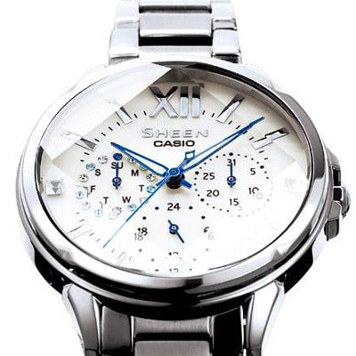 CASIO SHEEN 耀眼時尚女錶(SHE-3056D-7A)37.1mm