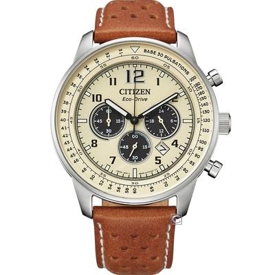 CITIZEN 星辰 都市雅痞光動能計時腕錶(CA4500-16X)
