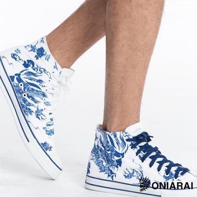 鬼洗 BLUE WAY – 藍摺繪高筒休閒鞋