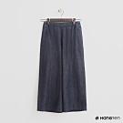 Hang Ten - 女裝 - 素面牛仔刷色造型寬褲-藍
