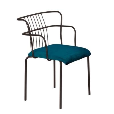 MUNA 華格納綠絨布餐椅/休閒椅 53.5X52X79cm