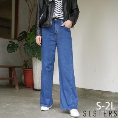 歐膩修身顯瘦闊腿褲牛仔寬褲(S-2L) SISTERS
