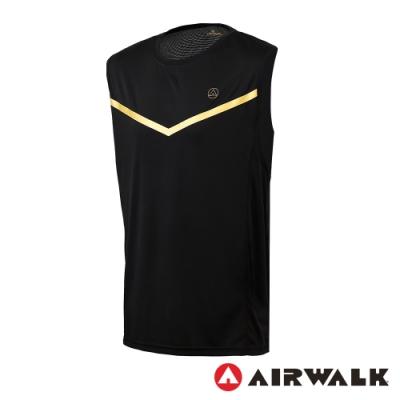 【AIRWALK】拼接背心-男-黑