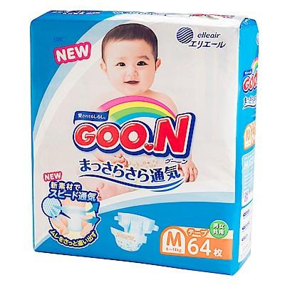 GOO.N日本大王 黏貼紙尿褲 境內版 M 64片x4包/箱