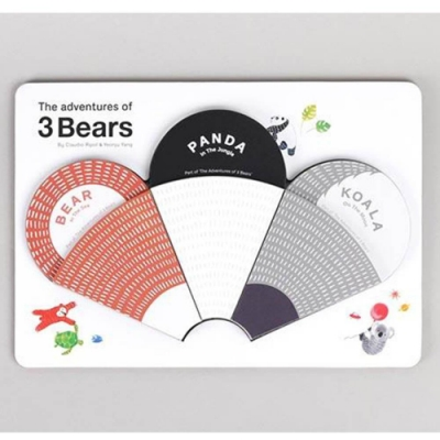 The Adventures Of 3 Bears 熊熊冒險故事趣味圖畫紙卡