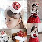 摩達客 聖誕派對-小公主毛絨小紅皇冠髮箍 YS-PDH16002