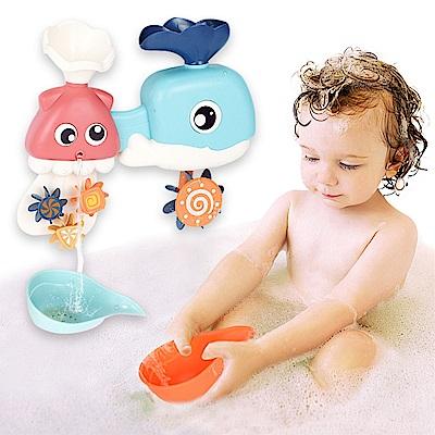 JoyNa兒童洗澡玩具戲水花灑寶寶鯨魚轉轉樂