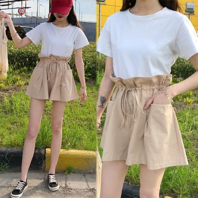 【韓國K.W.】爆推美女系專屬百搭自在舒適短褲-2色
