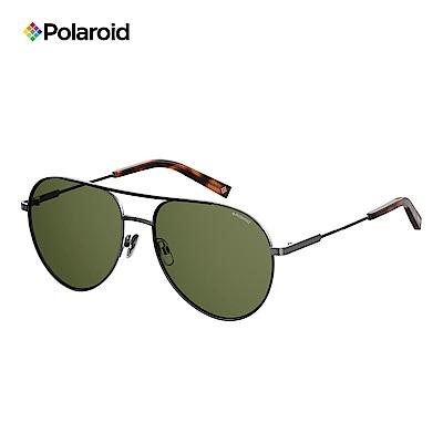 Polaroid PLD 2069/F/S/X-復古型男飛行眼鏡 墨綠色