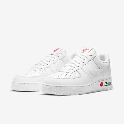 Nike 休閒鞋 Air Force 1 07 運動 男女鞋 經典款 皮革 簡約 玫瑰 情侶穿搭 白 紅 CU6312100