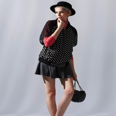 【ohoh-mini孕婦裝】時尚異材質拼接孕婦外套上衣