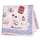 Aquascutum 風格時尚品牌風衣鈕扣圖騰字母LOGO帕領巾(粉紅系)