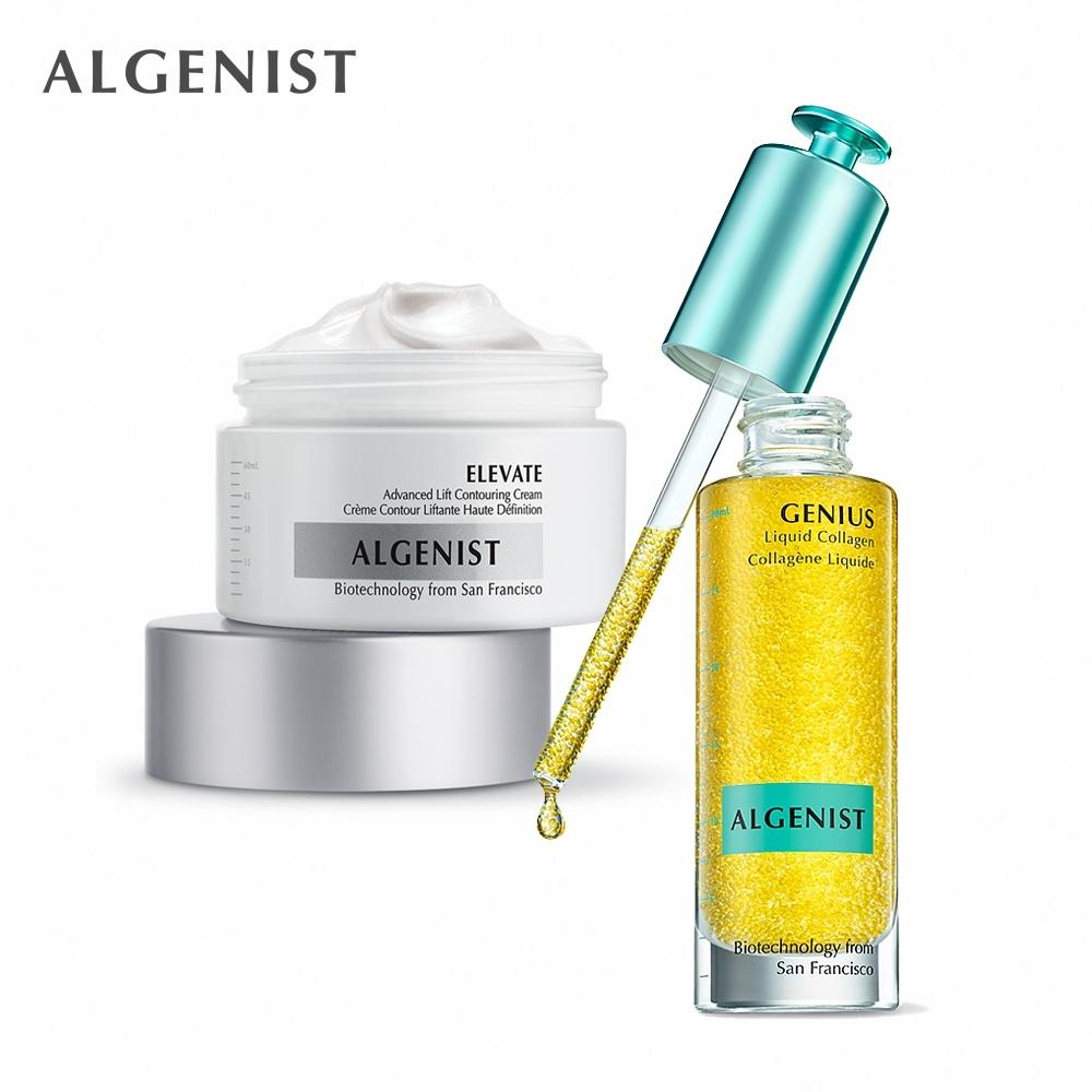 Algenist 緊緻逆齡養膚組-深海微藻超導菁粹 30ml+超進化緊緻霜 60ml