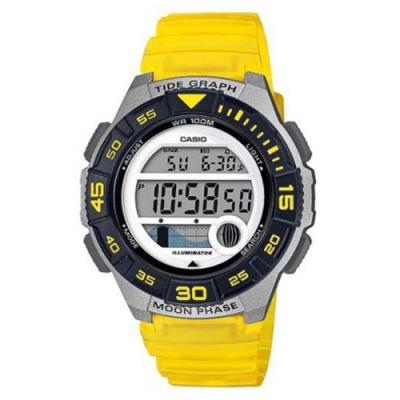 CASIO 潮汐與月相設計樂活休閒運動錶-黃(LWS-1100H-9A)40.6mm