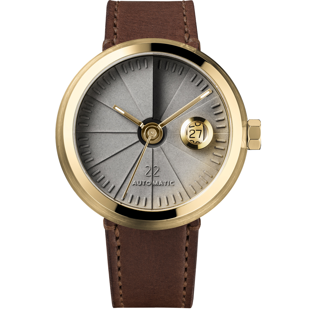 四度空間水泥機械錶-淬鍊黃銅款/45mm