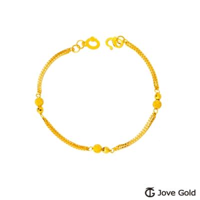 Jove Gold 漾金飾 愛與戀黃金手鍊-雙鍊款