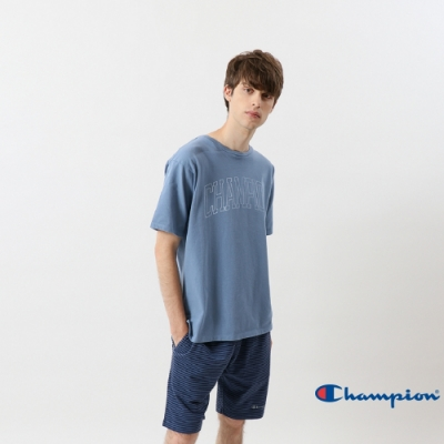 Champion Campus大字LOGO短Tee 藍色