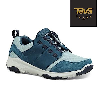 【TEVA】原廠貨 小/大童 Arrowood 2 Low WP 低筒防水牛皮機能休閒鞋/登山鞋(大西洋藍)