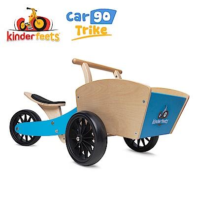 Kinderfeets 美國木製平衡滑步教具車_初心者收藏家系列 (藍勇士)