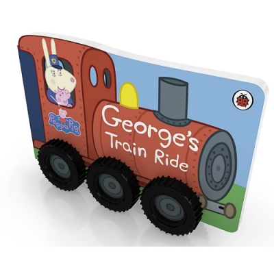 Peppa Pig:George s Train Ride 喬治豬的火車行輪子轉轉硬頁書