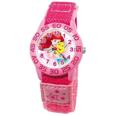 DF童趣館 - 迪士尼日本品牌機芯數字殼休閒織帶兒童手錶-共5色