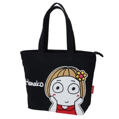 日本限定 Kcompany kikipuri 大眼女孩花子單肩大帆布包KI-TT(附暗袋)拉鍊設計保護隱私