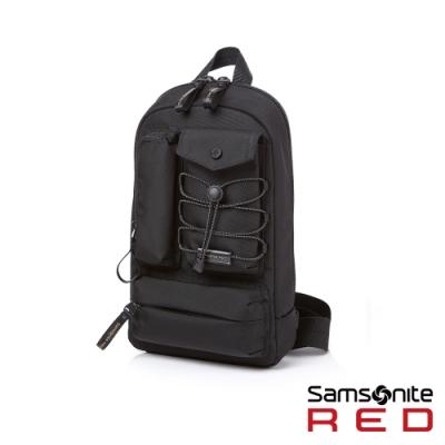 (6/1 10:00 ~6/21 10:00 送超贈點300) Samsonite RED MIRRE 時尚造型斜肩包(黑)