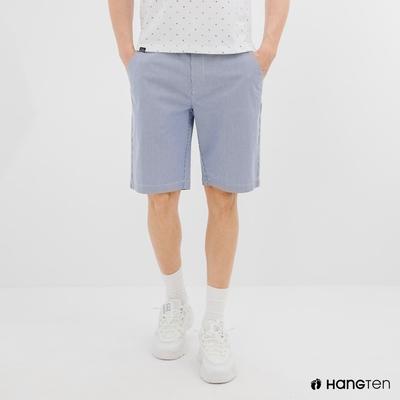 Hang Ten-男裝-REGULAR FIT附腰帶短褲-藍色