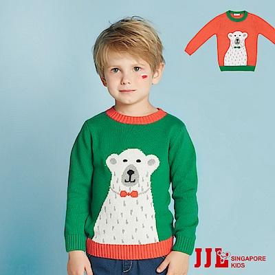 (宅配)JJLKIDS 流汗的北極熊毛衣(2色)