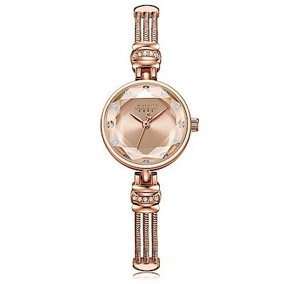 JULIUS聚利時 希臘女神唯美鍊帶腕錶-玫瑰金/23.5mm