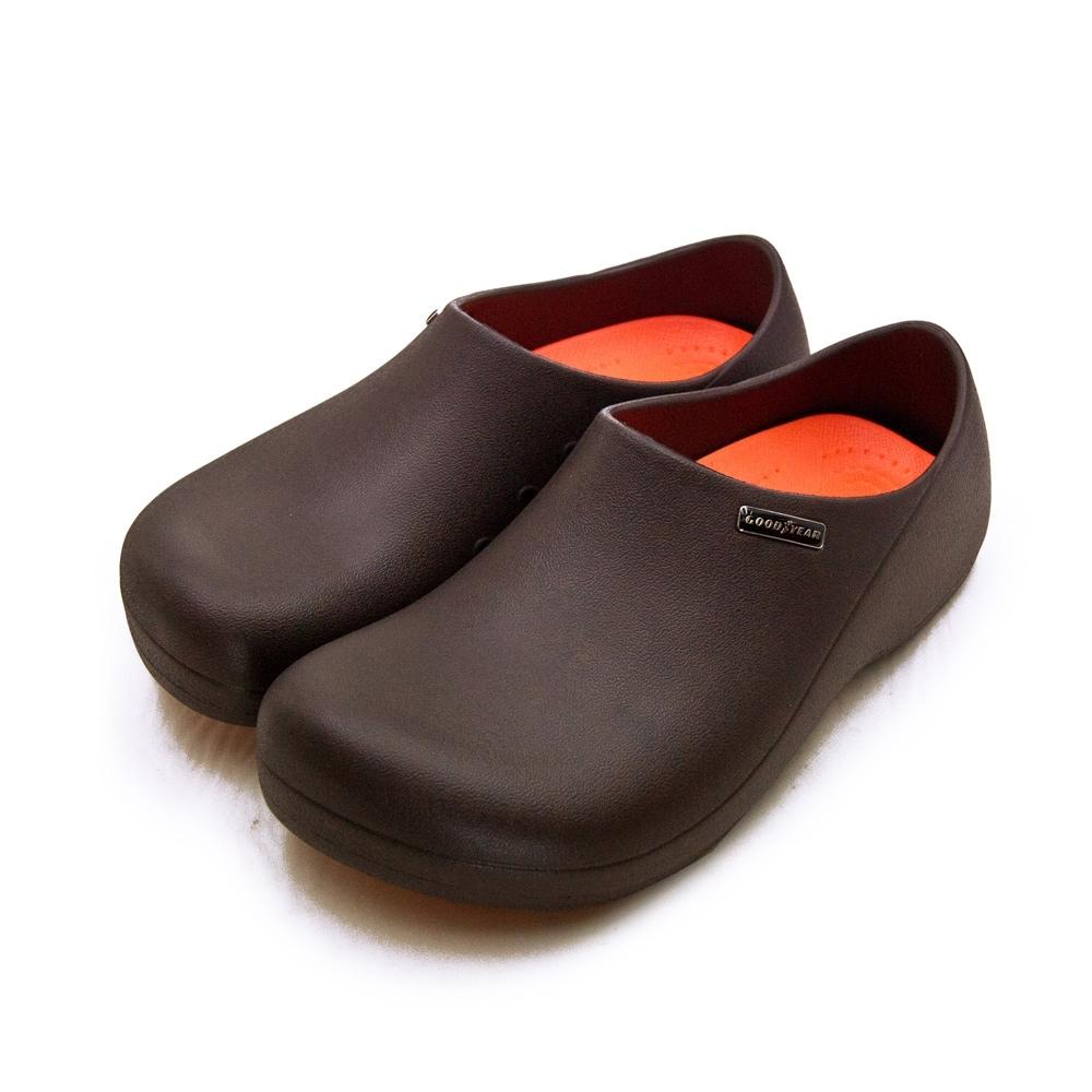 GOODYEAR 輕量防水防潑濺廚師餐飲業工作鞋 G5系列 咖啡 93903