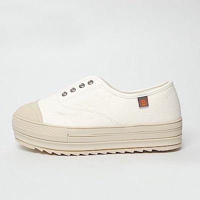【AIRKOREA韓國空運】厚底增高文青風格小白鞋-白
