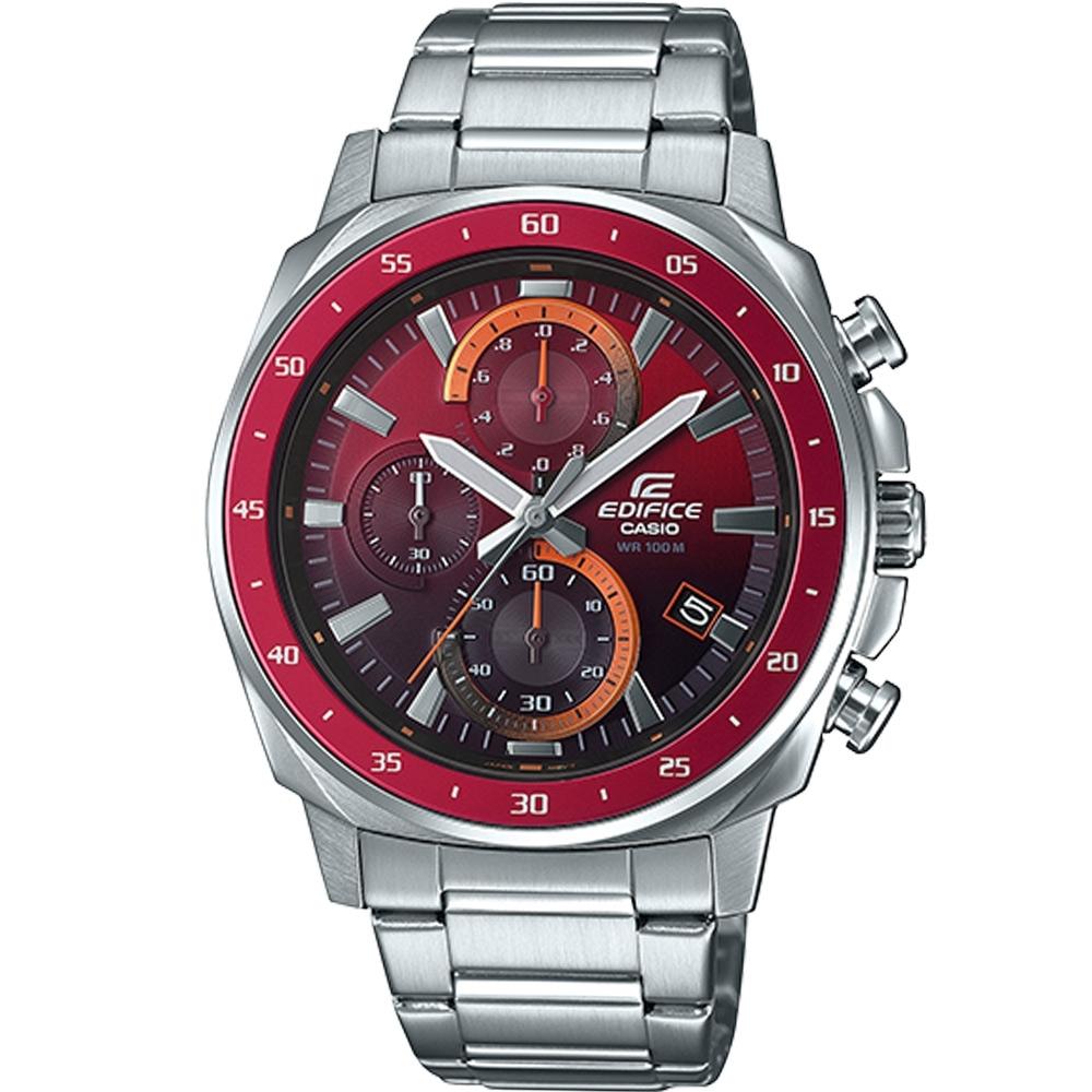 CASIO EDIFICE 三眼設計漸層混搭計時腕錶(EFV-600D-4A)