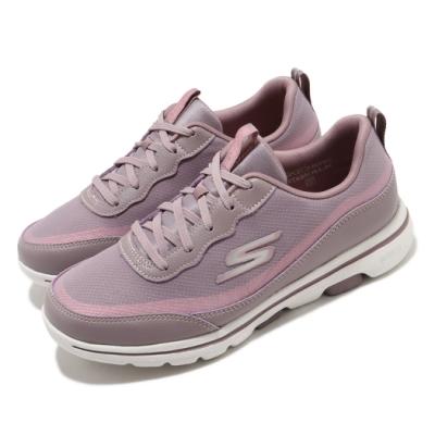 Skechers 休閒鞋 Go Walk 5 運動 低筒 女鞋 穩定 緩震 輕盈 透氣 瑜珈鞋墊 紫 粉 124228MVE