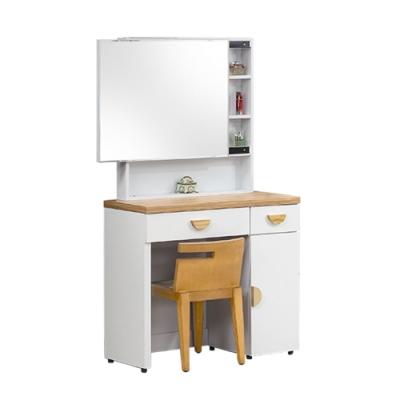柏蒂家居-貝莉3尺鏡台/化妝桌/梳妝台(贈化妝椅)-91x40x161cm