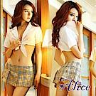Alice騷透明緊身秘書短裙真人空姐學生女睡衣-AK010