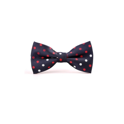 Laifuu拉福,紅白點點色織領結新郎結婚領結糾糾(藍底紅白點款)