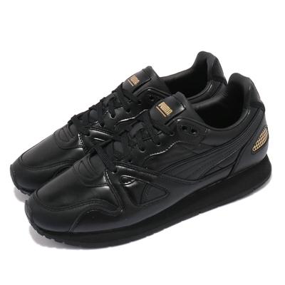 Puma 休閒鞋 Mirage OG Suit 男鞋 海外限定 皮革鞋面 復刻 穿搭推薦 黑 金 38252202