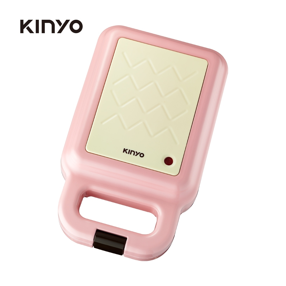 KINYO多功能三明治機/點心機/鬆餅機 粉色 SWM2378PI
