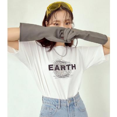 T恤 圓領環保印花五分袖T恤RU5108-創翊韓都