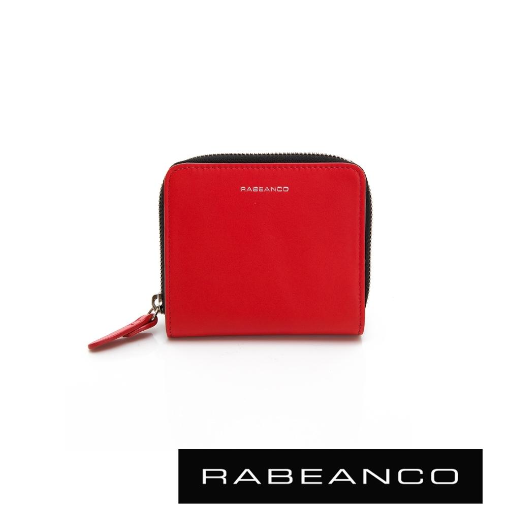 RABEANCO 迷時尚系列撞色拉鍊短夾 紅
