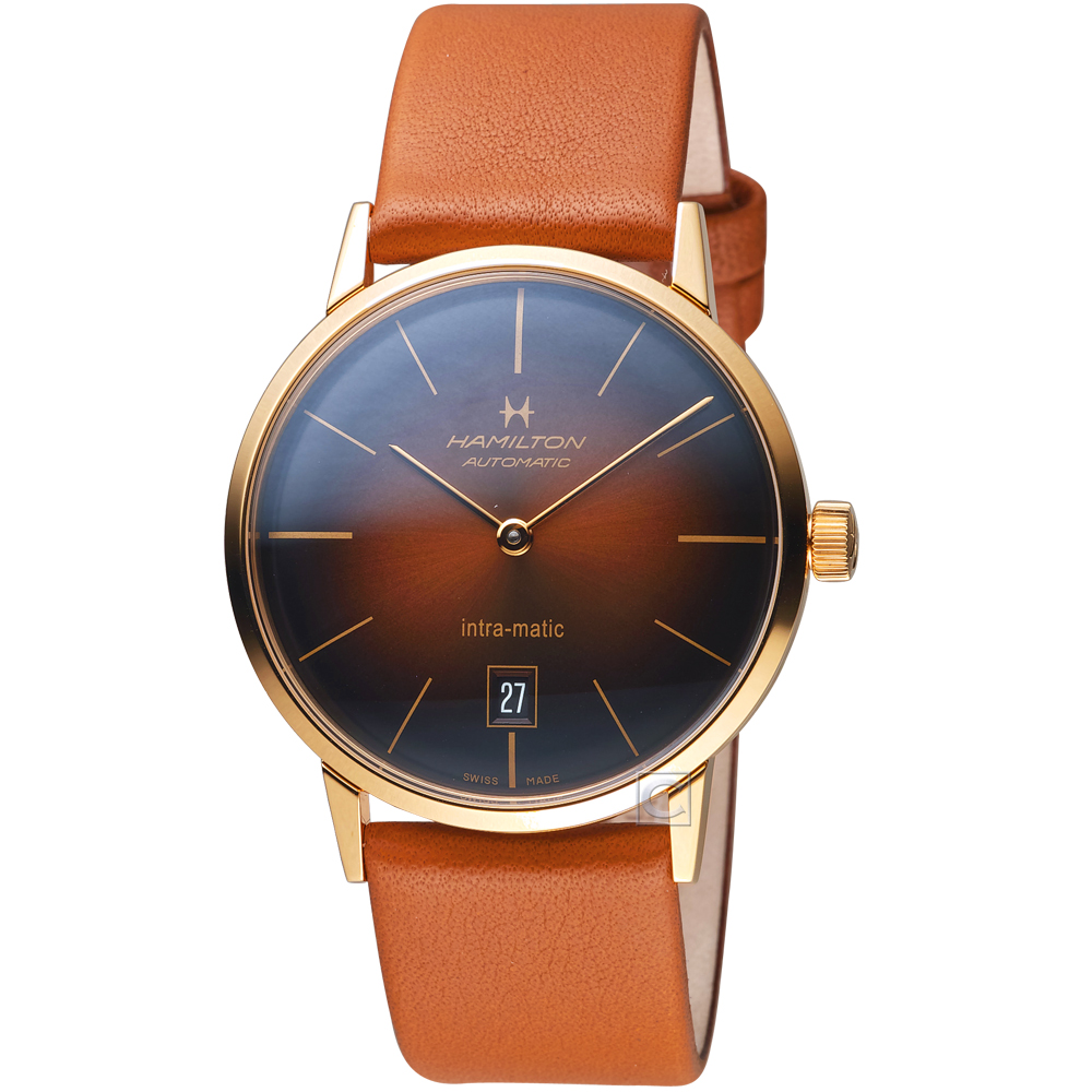 Hamilton漢米爾頓美國經典系列Intra-Matic機械腕錶(H38475501)