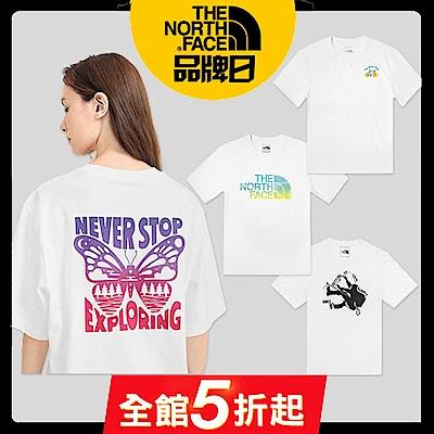 【The North Face】YAHOO獨家優惠-初夏男女推薦款休閒短袖T-SHIRT-5款任選