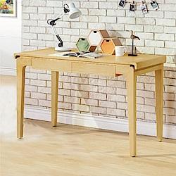 綠活居 卡多斯4尺二抽書桌/電腦桌(二色)-120x60x75cm免組