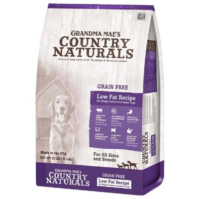 美國GRANDMA MAE S梅亞奶奶鄉村天然寵糧-高齡犬/體重控制L.I.D.低敏無穀低脂  4LBS/1.81KG (兩包組)