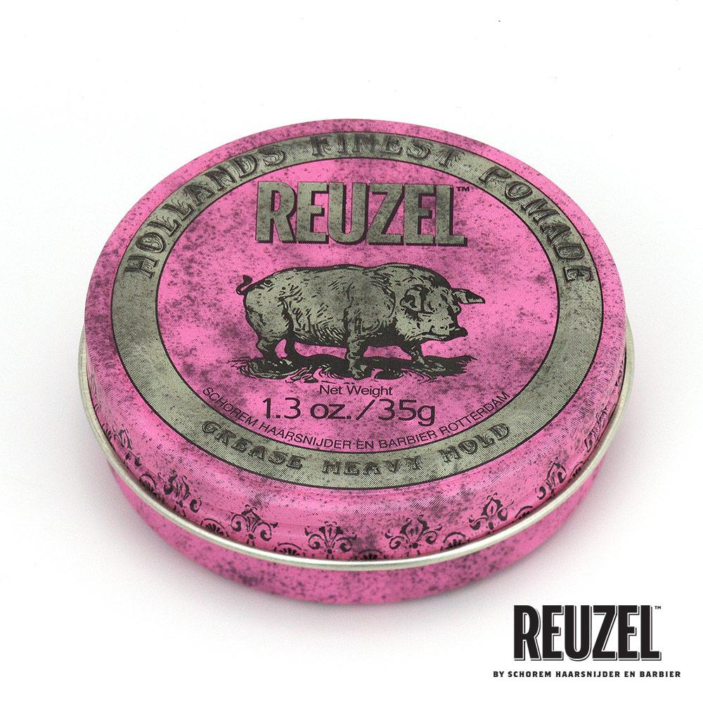 REUZEL Pink Pomade Grease粉紅豬超強髮油35g